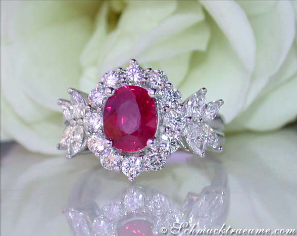 Exquisite Burma Ruby Diamond Ring 187 Juwelier